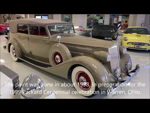 video 1936 Packard Twelve Convertible Sedan with Division