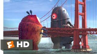 Monsters vs. Aliens (2009) - Golden Gate Grapple Scene (5/10) | Movieclips