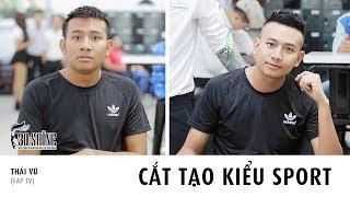 30Shine Đặc Biệt | Diễn viên Thái Vũ Fap TV tạo kiểu tóc Sport tại 30Shine