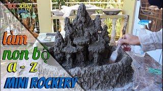 cách làm non bộ dễ như ăn kẹo 2 (a-z ) ll How To Build mini rockery ll Como construir mini cachoeira