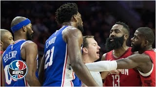 James Harden, Joel Embiid at center of Rockets-76ers drama   NBA Highlights