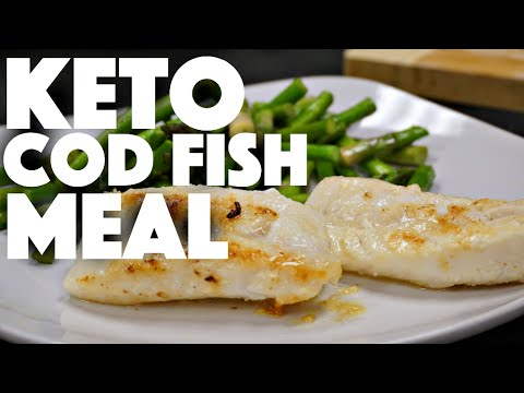 Keto Diet Fish Recipe with Vegetables cooked in Grassfed Butter