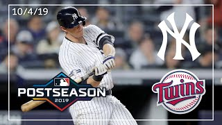 Minnesota Twins @ New York Yankees | ALDS Game 1 Highlights | 10/4/19