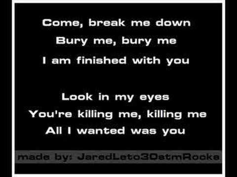 30 Seconds To Mars - The Kill [Karaoke/Instrumental] - YouTube