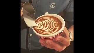 Cappuccino Latte Art Skills   Amazing Coffee Art   COFFEE ARTIST