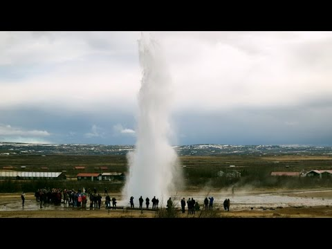 Geysir Hot Springs in Iceland