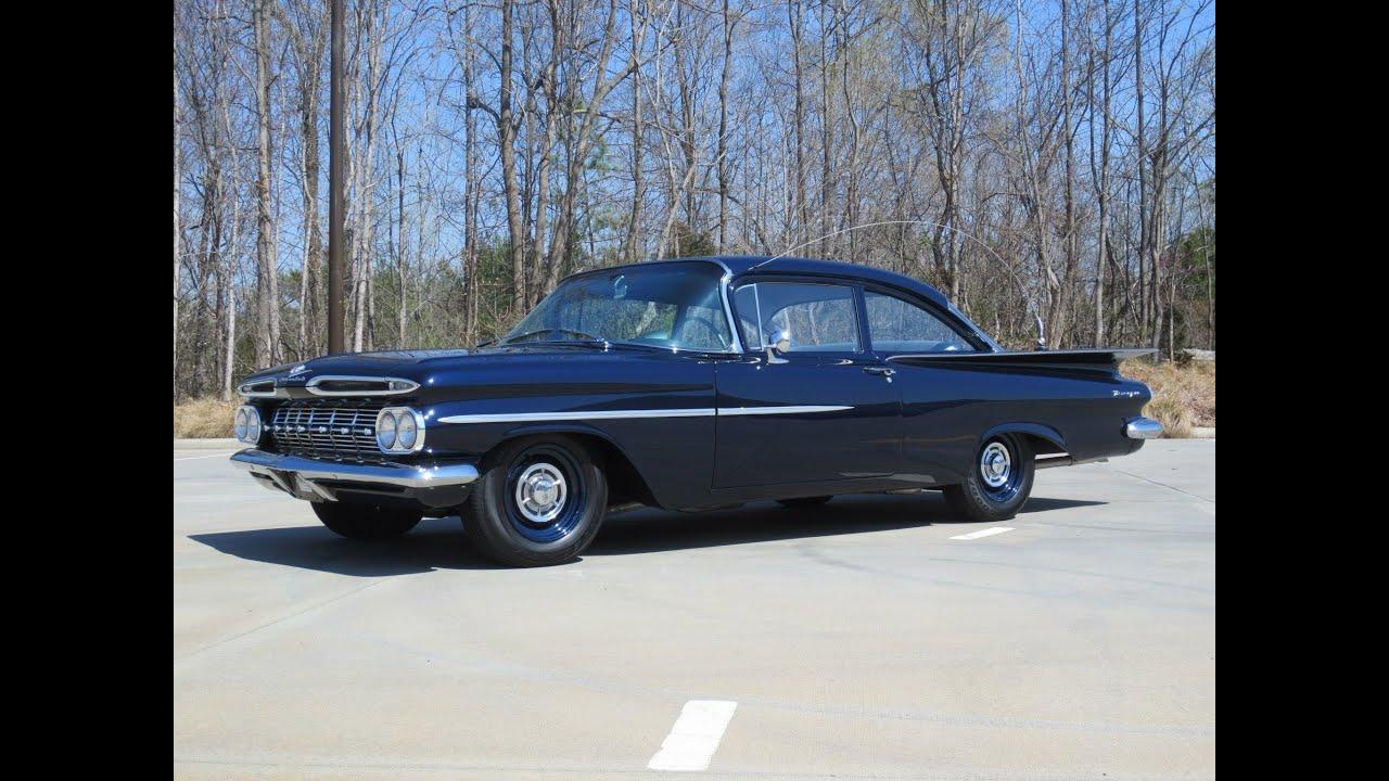 1959 Chevrolet Biscayne Duntov V8 Patrol Car Start Up