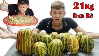 DT | Làm Thau Dưa Bở Dầm Đá Đường Khổng Lồ 21Kg ( Stone sugar melon )