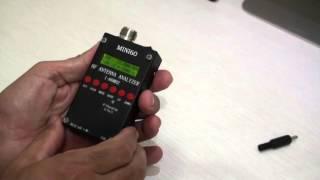 SARK -100 Antenna Analyzer in action - M0LYF