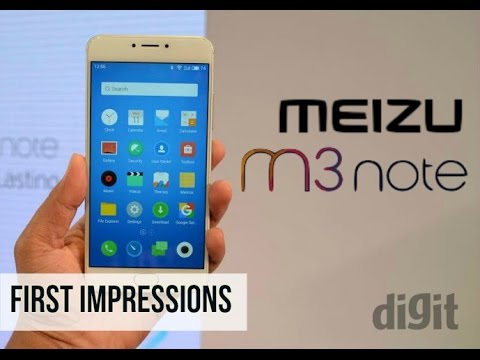 Meizu m3 note (India Version) | First Impression | Digit.in