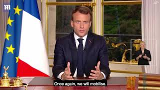 Emmanuel Macron vows to rebuild Notre Dame in five years after blaze #NewsTrends
