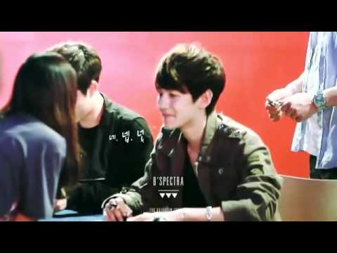 120430EXO-K Fansigning Event- super freaking cute Baekhyun!!