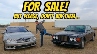 I'm Selling 2 Terrible Cars That You Should Not Buy (Both Mechanically Totaled Themselves)
