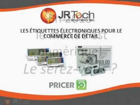 JRTECH SOLUTIONS - Étiquette Électronique de PRICER pour le commerce de détail