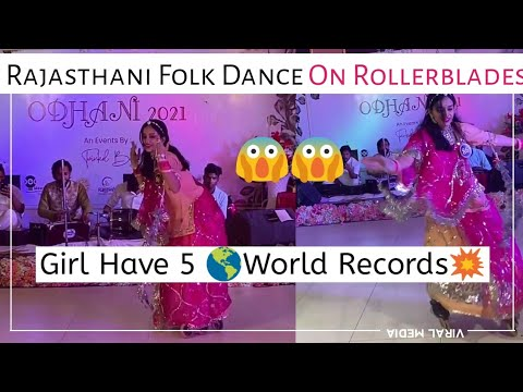 Woman performs traditional dance wearing rollerblades, wins hearts