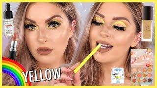 Neon YELLOW Eye Makeup ⚡🌈 RAINBOW SERIES