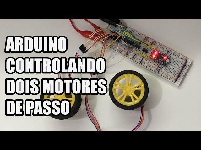 CONTROLE DIFERENTE DE MOTORES DE PASSO COM ARDUINO | Usina Robots US-3 #009