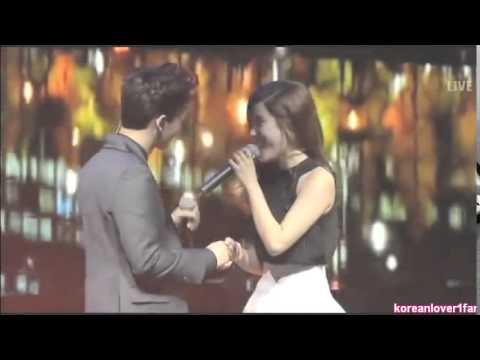 140922 CHEN&LIYIN HOLD HANDS&HUG!CHENYIN!♥