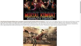 hướng dẫn tải mortal kombat komplete edition MK9