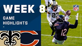Saints vs. Bears Week 8 Highlights | NFL 2020