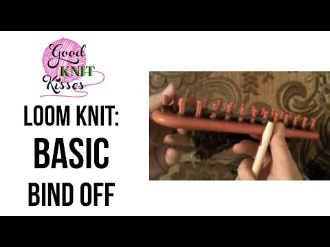 Loom Knitting How To Basic Bind Off Youtube