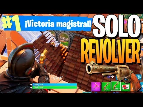 20 KILLS SÓLO REVOLVER! Fortnite: Battle Royale