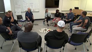 Police Officers Learn Meditation To Tackle Job Tension | NBC Nightly News