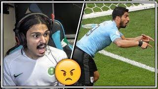 ردة فعل سعودي على مباراة الارغواي والسعودية      -