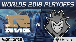 RNG vs G2 Game 2 Highlights Worlds 2018 Playoffs Royal Never Give Up vs G2 Esports by Onivia