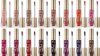 """FULL COLLECTION Too Faced """"Melted Matte Liquified Long Wear Matte Lipstick"""" 