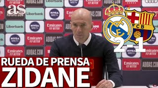 REAL MADRID 2-BARCELONA 1 | Rueda de prensa de ZIDANE | Diario AS