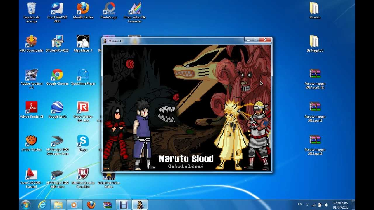 HIRES TÉLÉCHARGER MUGEN 2012 DOWNLOAD NARUTO EDITION SHIPPUDEN