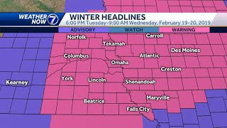 Updating the snow forecast Tuesday night into Wednesday