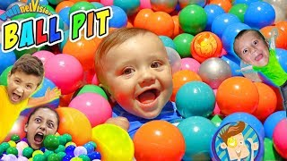 BALL PIT IN OUR HOUSE!! Kids Get 22k! (FUNnel Vision Family) Fun Indoor Activities