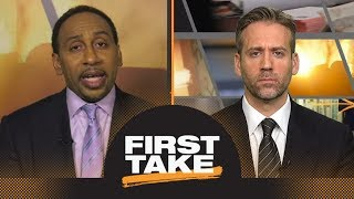 Stephen A. and Max finally agree: LeBron James on Lakers no threat to Warriors | First Take | ESPN
