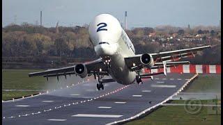 Airbus Beluga #2 Take-off 30knots Cross-Wind