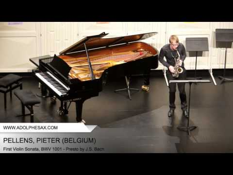 Dinant2014 PELLENS Pieter First Violin Sonata, BWV 1001 Presto by J S Bach