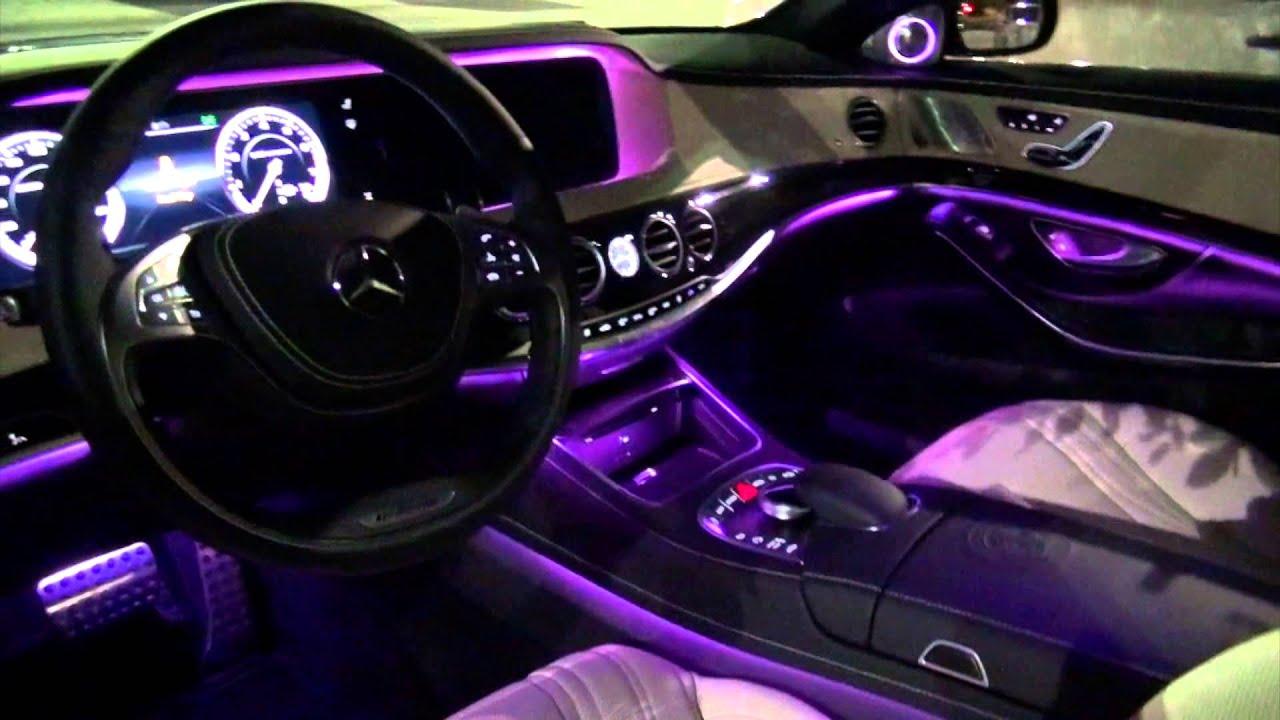 2014 Mercedes Benz S63 Amg Amazing Interior Lighting Youtube