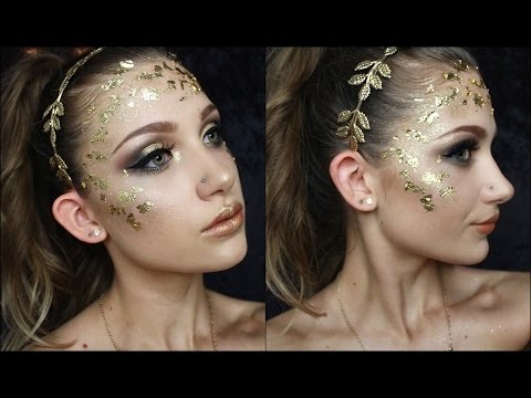 Greek Goddess Makeup Hair Costume Toga Halloween Tutorial