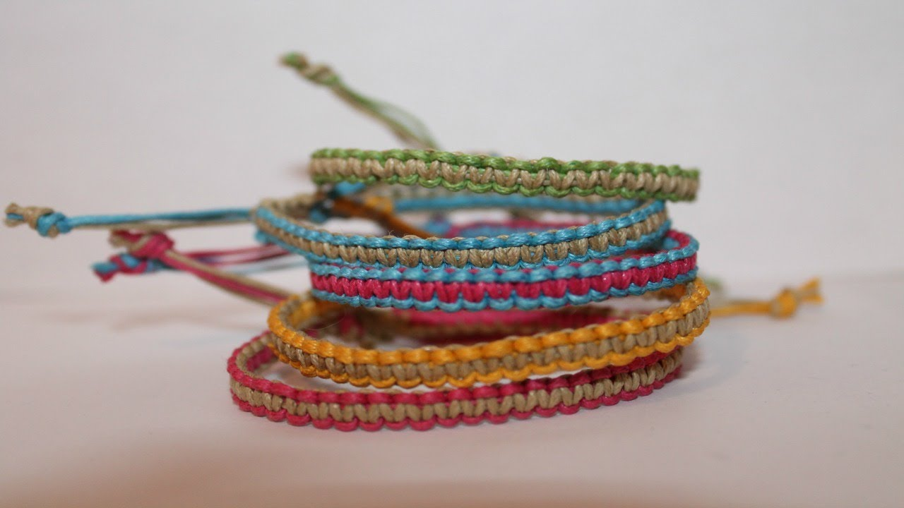 how to make a square knot bracelet two colored square knot friendship bracelet 3213