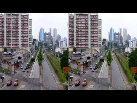 Curitiba Trânsito 200Km/h 3D março 2013 -Lumix LX7 - Long