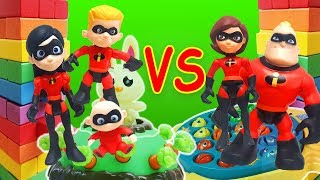 Incredibles 2 Kids vs. Parents HUGE Game Day Part 2! Starring Jack Jack, Violet and Elastigirl!