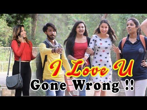 I Love You | Prank with Girls | Khurafati India