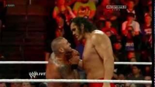Randy Orton RKO On The Great Khali - WWE.Monday.Night.Raw.02.06.2012