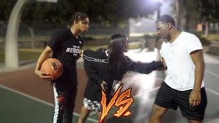 1v1 Basketball vs. My 14 Year Old Sister's Boyfriend... (If I win they have to break up)