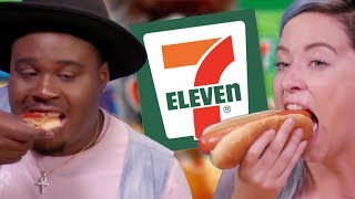 Trying Foods from 7-Eleven w/ Zach Campbell (Cheat Day)