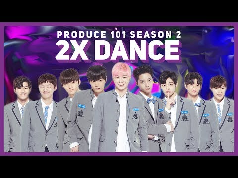 Produce 101 Season 2 2X Speed Dance | 5 Concept Songs (Never, Showtime, etc.)