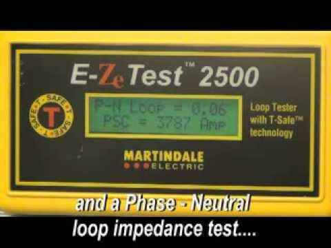 EZ2500 Non-trip Earth Loop Impedance Tester