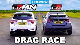Toyota GR Yaris v Yaris GRMN - DRAG RACE