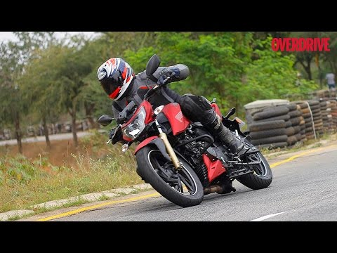 TVS Apache RTR 200 4V - Flying lap on the TVS track